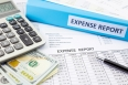 Financial expense report with money
