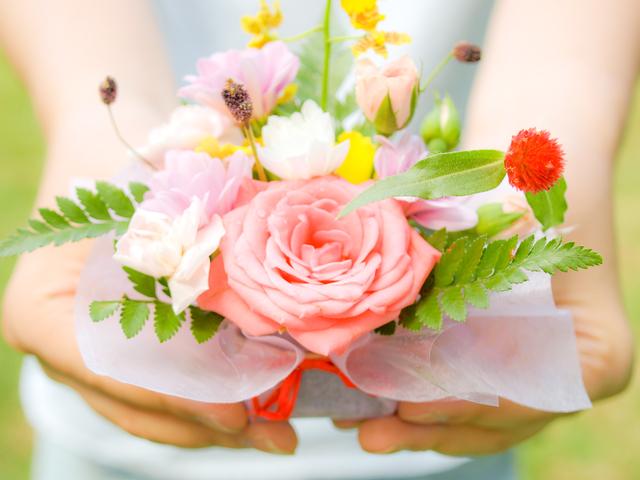 花のラッピング方法・やり方・手順や使い方
