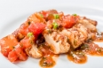 Chicken breast with tomato basil sauce
