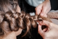 weave braids in beauty salon